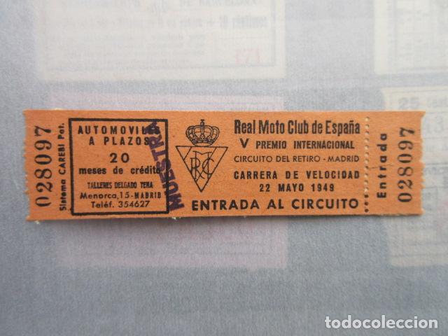 COLECCION HISTORIA MADRID - CIRCUITO DEL RETIRO V PREMIO INTERNACIONAL REAL MOTO - LEER INTERIOR (Coches y Motocicletas Antiguas y Clásicas - Catálogos, Publicidad y Libros de mecánica)