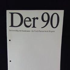 Coches y Motocicletas: CATÁLOGO DEL AUDI 90 DE 1987 EN ALEMÁN. Lote 200550503