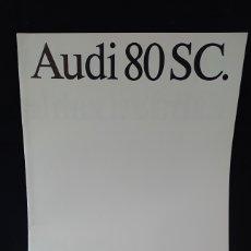 Coches y Motocicletas: CATÁLOGO DEL AUDI 80 SC DE 1986 EN ALEMÁN. Lote 200551441
