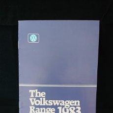 Coches y Motocicletas: CATÁLOGO GAMA VOLKSWAGEN DE 1983 EN INGLÉS POLO GOLF SCIROCCO PASSAT SANTANA. Lote 200553435