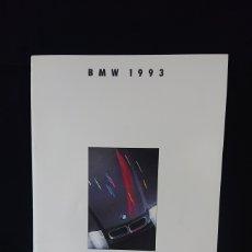 Coches y Motocicletas: CATÁLOGO GAMA BMW DE 1993 EN ESPAÑOL SERIE 3, 5, 7, 8, M3 Y M5. Lote 200555493