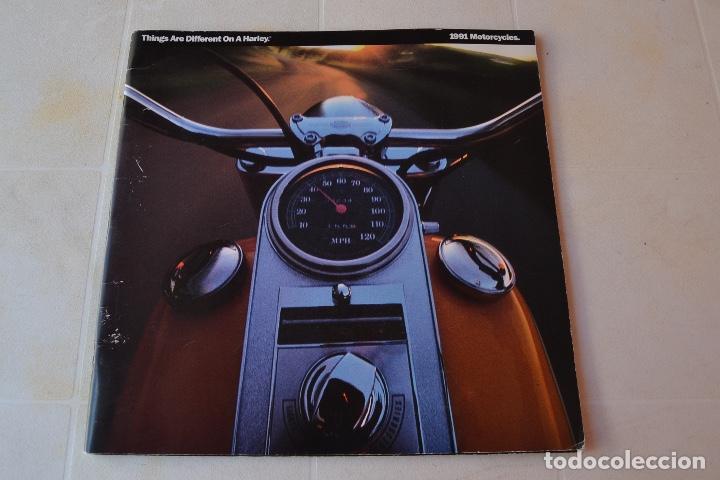 1991 CATÁLOGO HARLEY DAVIDSON TODOS LOS MODELOS RARO (Coches y Motocicletas Antiguas y Clásicas - Catálogos, Publicidad y Libros de mecánica)