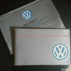 Automobili e Motociclette: MANUAL DE INSTRUCCIONES VW GOLF AÑO 1988. Lote 200830778