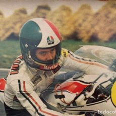 Coches y Motocicletas: GIACOMO AGOSTINI MOTO YAMAHA POSTER ORIGINAL 103 X 70 CMS. Lote 200895570