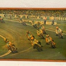 Coches y Motocicletas: CARRERA MOTOS POSTER ORIGINAL 100 X 70 CMS. Lote 200896052