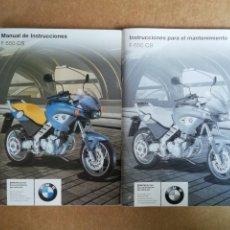 Coches y Motocicletas: MANUAL DE INSTRUCCIONES / INSTRUCCIONES PARA EL MANTENIMIENTO BMW F 650 CS - ORIGINALES. Lote 201128908