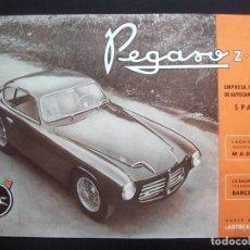Coches y Motocicletas: CATALOGO PEGASO Z-102 AÑO 1953 ORIGINAL, CARACTERÍSTICAS TECNICAS EN INGLÉS. Lote 201143716