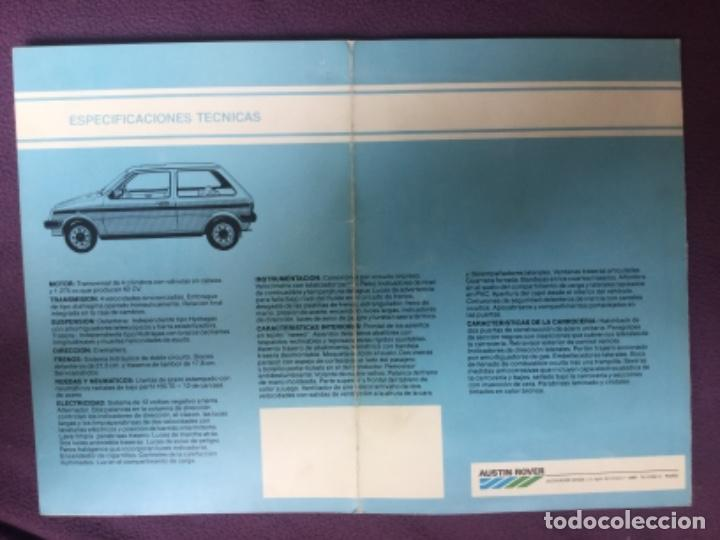 Coches y Motocicletas: CATALOGO COMERCIAL DESPLEGABLE - METRO 1300 AUSTIN ROVER - ESPECIFICACIONES TECNICAS - Foto 3 - 201481125