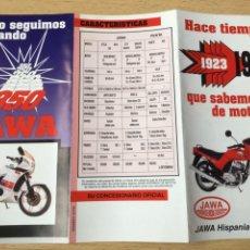 Coches y Motocicletas: (M) CATALOGO DESPLEGLABLE ORIGINAL AÑOS 90 MOTOCICLETAS JAWA 350 /125 / 300. Lote 202072690