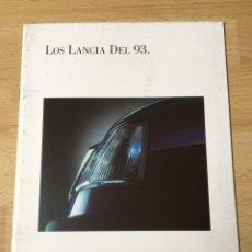 Coches y Motocicletas: (M) CATALOGO ORIGINAL LANCIA DEL 93, AÑO 1993, ILUSTRADO, BUEN ESTADO. Lote 202073056
