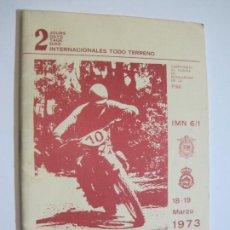 Coches y Motocicletas: REAL MOTO CLUB CATALUÑA-PROGRAMA TROFEO BANCO DE BARCELONA-MARZO 1973-VER FOTOS-(V-19.724). Lote 202322682