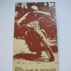 Coches y Motocicletas: REAL MOTO CLUB CATALUÑA-PROGRAMA TROFEO BANCO DE BARCELONA-MARZO 1973--VER FOTOS-(V-19.726). Lote 202323190