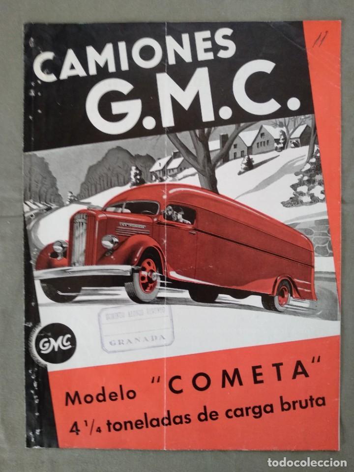 FOLLETO PUBLICIDAD CAMION GMC GENERAL MOTORS (Coches y Motocicletas Antiguas y Clásicas - Catálogos, Publicidad y Libros de mecánica)