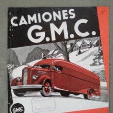 Coches y Motocicletas: FOLLETO PUBLICIDAD CAMION GMC GENERAL MOTORS. Lote 202593500