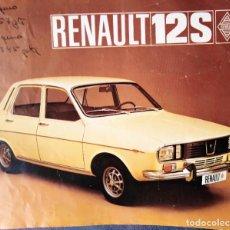 Coches y Motocicletas: RENAULT 12 S DOBLE PAGINA DESPLEGABLE. Lote 202781246