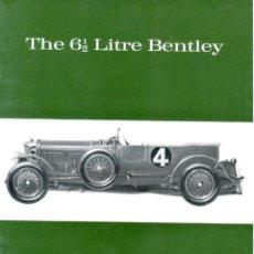 Carros e motociclos: THE 6 Y 1/2 LITRE BENTLEY. MAGAZINE Nº22 DE PROFILE PUBLICATIONS, ORIGINAL AÑOS 60.. Lote 191191906