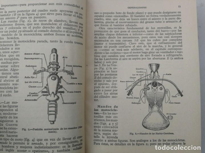 Coches y Motocicletas: ANTIGUO LIBRO DE MOTOCICLETAS - M. ARIAS PAZ - 1960 - EN BUEN ESTADO - 447 PAGINAS - 14ª EDICION - L - Foto 3 - 203072828