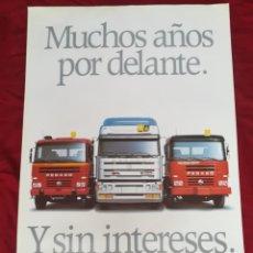 Coches y Motocicletas: IMPRESIONANTE PÓSTER CARTEL CAMIÓN PEGASO TRONER , MIDER , TRAKKER 1990. Lote 203408808