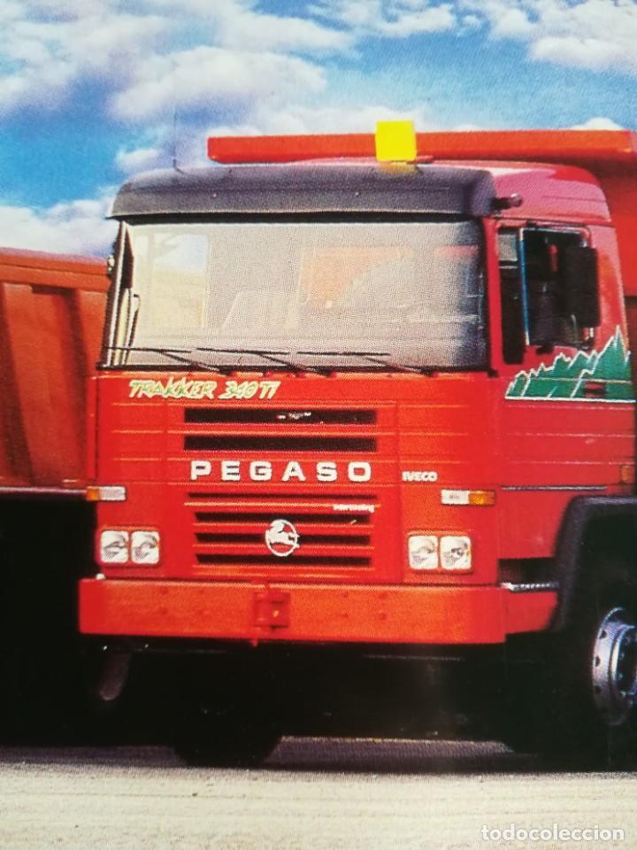 Coches y Motocicletas: Impresionante póster cartel camión Pegaso Troner 400, Trakker, etc año 1990 - Foto 5 - 203731187