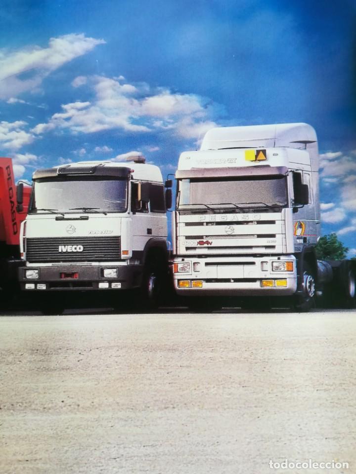 Coches y Motocicletas: Impresionante póster cartel camión Pegaso Troner 400, Trakker, etc año 1990 - Foto 10 - 203731187