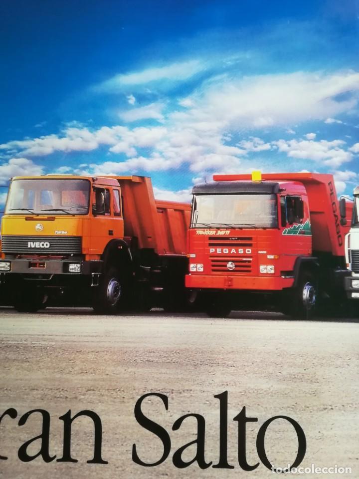 Coches y Motocicletas: Impresionante póster cartel camión Pegaso Troner 400, Trakker, etc año 1990 - Foto 11 - 203731187