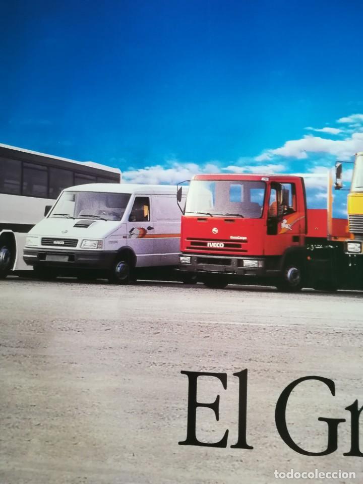 Coches y Motocicletas: Impresionante póster cartel camión Pegaso Troner 400, Trakker, etc año 1990 - Foto 12 - 203731187