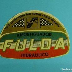 Coches y Motocicletas: PEGATINA AMORTIGUADOR HIDRÁULICO FULDA. FORMATO 10 X 14 CM. Lote 204024471