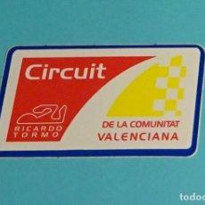 Coches y Motocicletas: PEGATINA CIRCUIT RICARDO TORMO DE LA COMUNITAT VALENCIANA. FORMATO 5,3 X 9,3 CM. Lote 204057005
