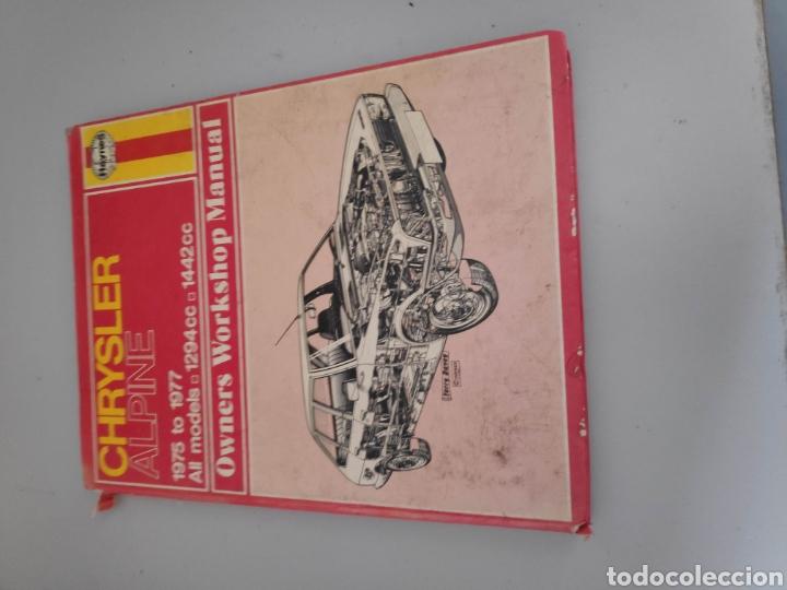 LIBRO COCHE CHRYSLER ALPINE WORKSHOP MANUAL (Coches y Motocicletas Antiguas y Clásicas - Catálogos, Publicidad y Libros de mecánica)