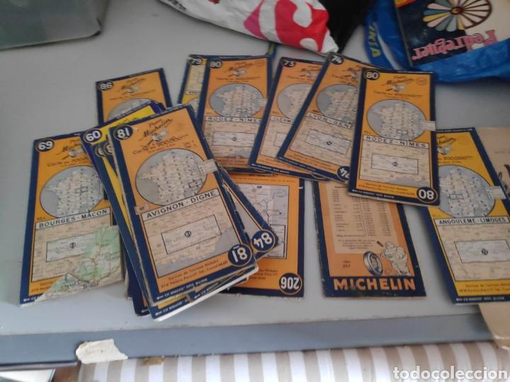 LOTE 26 MAPAS MAPA MICHELIN (Coches y Motocicletas Antiguas y Clásicas - Catálogos, Publicidad y Libros de mecánica)