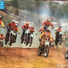 Coches y Motocicletas: MOTOCROSS, POSTER ORIGINAL DE LOS 70. Lote 204476108
