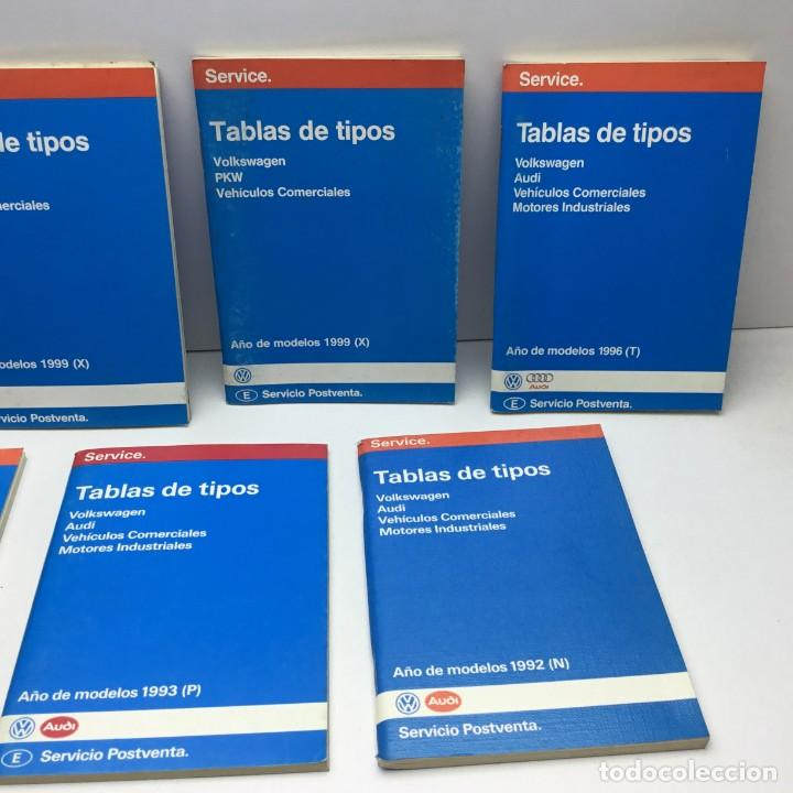Coches y Motocicletas: LOTE 7 TABLAS DE TIPOS - VOLKSWAGEN - PKW - AUDI - SERVICIO POSTVENTA - MOTOR - Foto 3 - 204631671