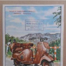 Coches y Motocicletas: PUBLICITARIO MOTO IRUÑA AÑOS 50 EN PERFECTO ESTADO. Lote 204738522