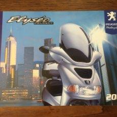 Coches y Motocicletas: FOLLETO MOTO ELYSEO PEUGEOT 2000 50CC (BROCHURE MOTORCYCLE).. Lote 205132581