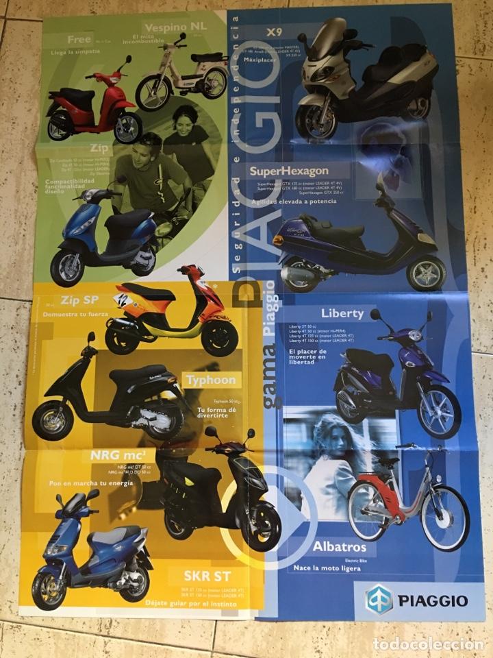 Coches y Motocicletas: FOLLETO MOTO VESPA PIAGGIO GAMA CATÁLOGO ( BROCHURE MOTORCYCLE) . - Foto 3 - 205141005