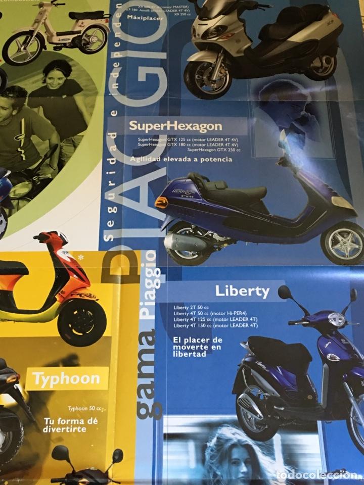 Coches y Motocicletas: FOLLETO MOTO VESPA PIAGGIO GAMA CATÁLOGO ( BROCHURE MOTORCYCLE) . - Foto 5 - 205141005