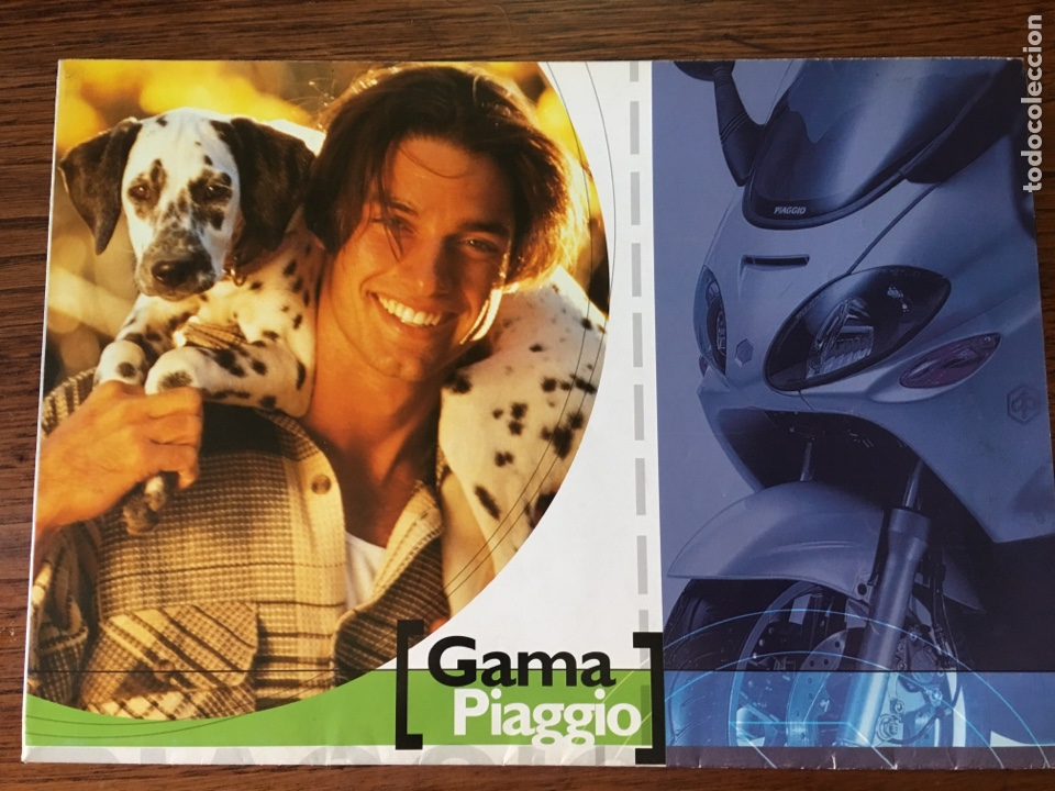 FOLLETO MOTO VESPA PIAGGIO GAMA CATÁLOGO ( BROCHURE MOTORCYCLE) . (Coches y Motocicletas Antiguas y Clásicas - Catálogos, Publicidad y Libros de mecánica)