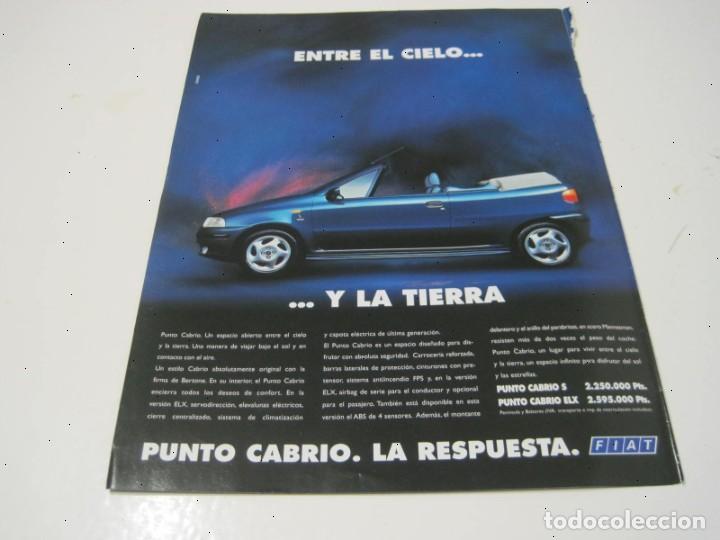 FIAT PUNTO CABRIO. ANUNCIO PUBLICIDAD 1994 (Coches y Motocicletas Antiguas y Clásicas - Catálogos, Publicidad y Libros de mecánica)