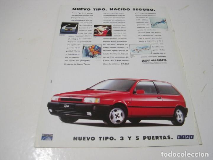 FIAT TIPO 3 PUERTAS. ANUNCIO PUBLICIDAD 1993 (Coches y Motocicletas Antiguas y Clásicas - Catálogos, Publicidad y Libros de mecánica)