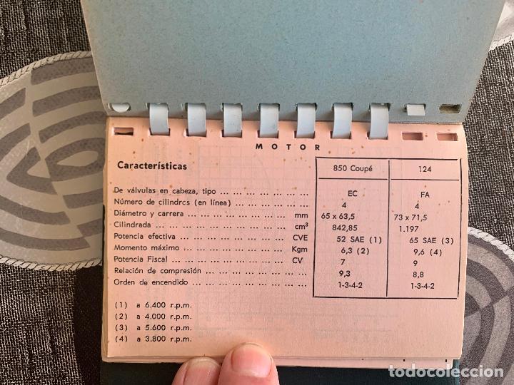 Coches y Motocicletas: SEAT PRONTUARIO DE CARACTERISTICAS SEAT 1500 600 D 850 850 COUPE Y SEAT 124 DICIEMBRE 1968 - Foto 7 - 205357193