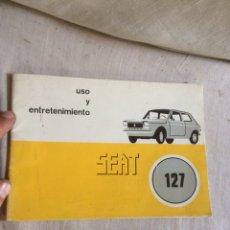 Carros e motociclos: LIBRO SEAT 127!UTILIZACION Y ENTRETENIMIENTO!. Lote 205606120