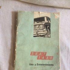 Carros e motociclos: LIBRO SEAT 1430 UTILIZACION Y MANTENIMIENTO!. Lote 205606185