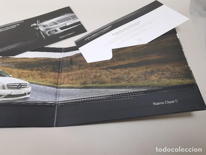 Coches y Motocicletas: MERCEDES CLASE C - CARPETA TRIPTICO PUBLICITARIO-- ORIGINAL - 2007 - ESPAÑOL - Foto 7 - 205875410