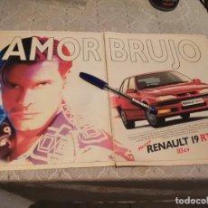 Coches y Motocicletas: COCHE RENAULT 19 RTI 113 CV ANUNCIO PUBLICIDAD REVISTA 1992. Lote 206180825