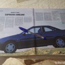 Coches y Motocicletas: COCHE HYUNDAI S. COUPE CAPRICHO COREANO RECORTE REVISTA2 PAGINAS 1992. Lote 206186962