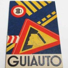 Coches y Motocicletas: GUIAUTO DE 1960, CON SELLO DE LA JEFATURA DE TRÁFICO DE BADAJOZ. COMO NUEVO. CONTIENE…. Lote 206229825
