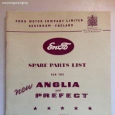 Coches y Motocicletas: 1953 CATÁLOGO DE PIEZAS FORD ANGLIA Y PREFECT. Lote 206270016