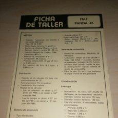 Coches y Motocicletas: FICHA TÉCNICA PANDA 45 + BMW 525. Lote 206573255