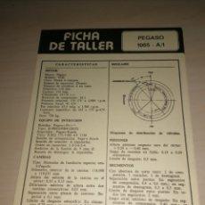Coches y Motocicletas: FICHA DE TALLER PEGASO 1065 A/1 + DIESEL FIAT 6 CIL. 221. Lote 206573493