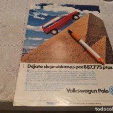 Coches y Motocicletas: COCHE VOLKSWAGEN POLO ANTIGUO ANUNCIO PUBLICIDAD REVISTA. Lote 206587846